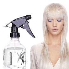 Garrafas de pulverizador da névoa ferramentas de cabeleireiro portátil spray plástico garrafa transparente hairdressing umidade atomizador pote fino
