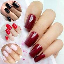 24 шт шоколад красный поддельные ногти для Дизайн Длинные искусственные