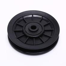 1 шт. 105 мм Прочный и износостойкий Abs Материал черный колесико опорного шкива Кабель оборудование для спортзала интегрированные тренажеры