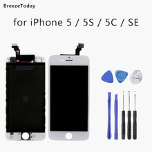 Mobile Phone LCD Screen For iPhone 5 SE LCD Screen Replacement LCD Display For iPhone 5C 5S LCD экран на айфон new replacement for fly iq4416 iq 4416 lcd display screen white black color 1pc mobile phone lcd