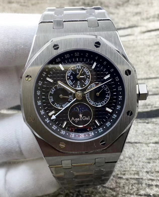 Luxury Brand New Men Watch Automatic Mechanical GMT MoonPhase Sapphire Silver Luminous Blue Black Grey White Watches Transparent