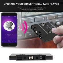 شريط كاسيت للسيارة متوافق مع البلوتوث مع ميكروفون 6H وقت الموسيقى 168H الاستعداد الذكي محول كاسيت