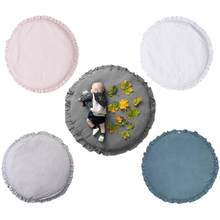 Baby Play Mats Round Soft Cotton Padded Newborn Crawling Mat Infant Play Carpet Girl Boy Kids Room Floor Rugs Nordic Decoration(China)