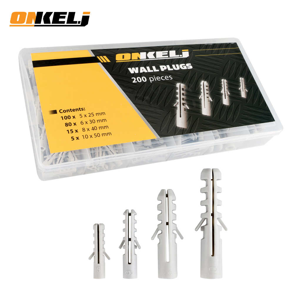 LKSPD 10pcs Plastic Airplane Expansion Pipe Curtain Gypsum Board Hollow Wall Expansion Screw 3.550+Anchor 850 Plugs Up Aging