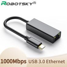 Adattatore Ethernet USB C adattatore Lan RJ45 da USB tipo C a 100/1000M per MacBook Pro convertitore di schede di rete USB C Huawei P30