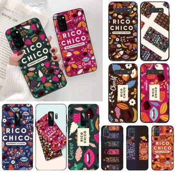 Sweet chocolate Rico Chico TPU Soft Silicone Phone Case Cover for Samsung S20 plus Ultra S6 S7 edge S8 S9 plus S10 5G lite 2020 image