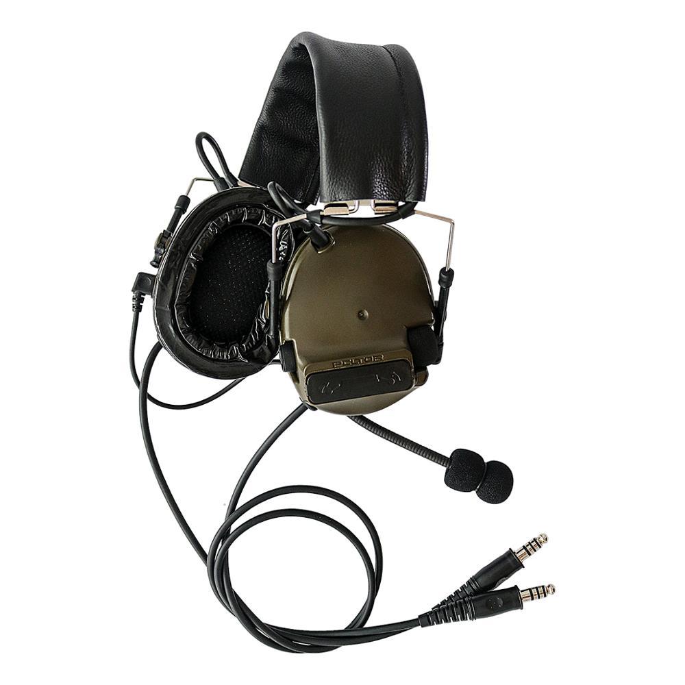 TAC-SKY COMTAC III Silicone earmuff daul version Noise reduction pickup headset -FG