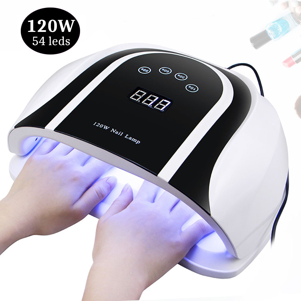 UV Lamp For Manicure Nail Dryer 120/80/54/36W Nail Lamp For Quick Curing UV Gel Nail Polish With Motion Sensing LCD Display