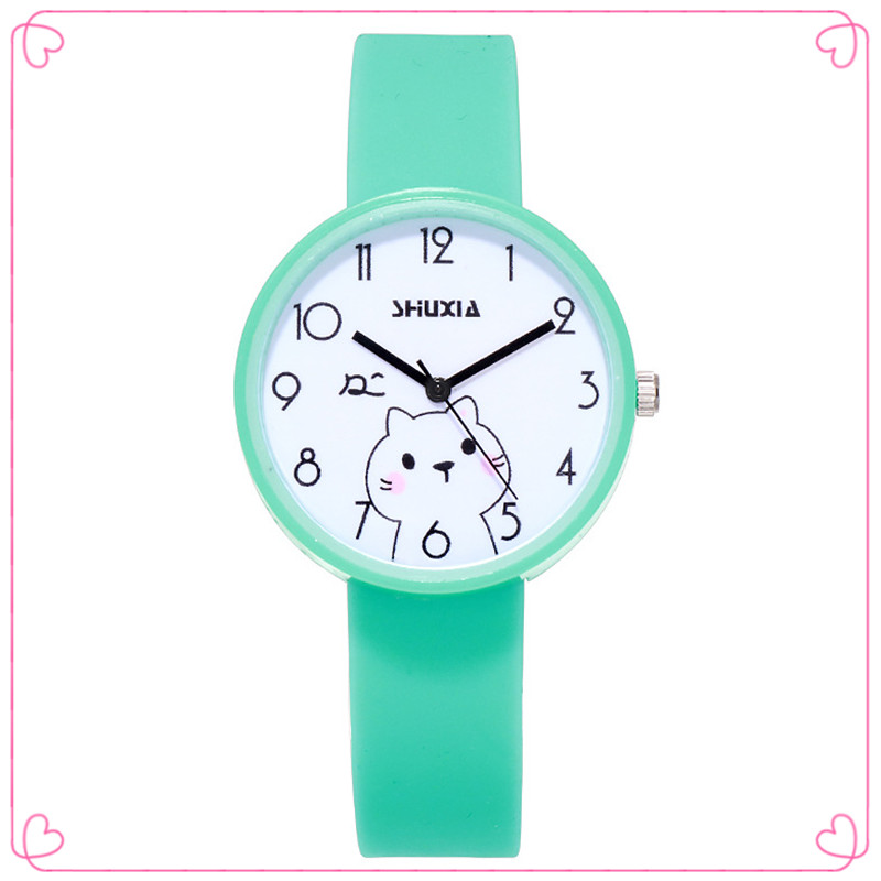 Dropshipping 2020 New Cute Fat Cat Children Quartz Watch Silicone Kids Watch Boy Girl Birthday Party Gift Montre Enfant Fille
