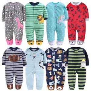 Footed-Pajamas Fleece Newborn Girls Infant Baby-Boy Autumn-Winter Kids Cartoon Long-Sleeved