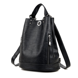 Women's backpack leather bag w