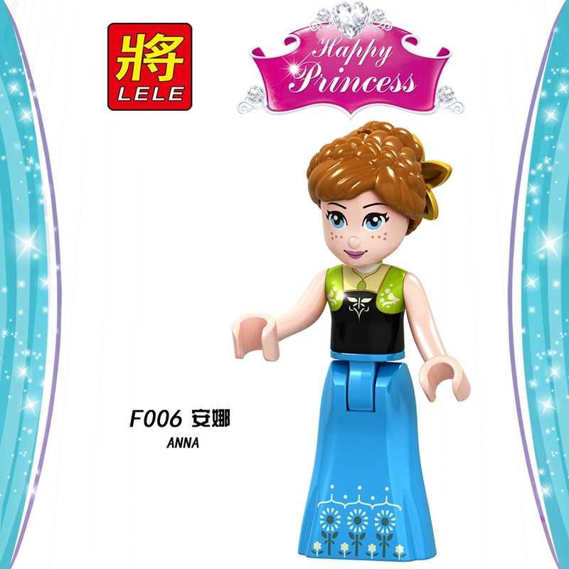Przyjaciel księżniczka zestaw klocki zabawka budowlana Hua Mulan Anna bestia Belle księżniczka bloki przyjaciele ustawia zabawki edukacyjne dla dzieci