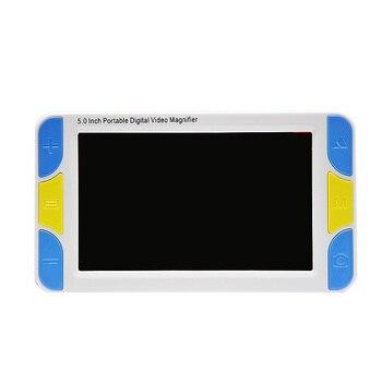 5 дюймов Экран портативная цифровая Лупа с плохим зрением электронные наглядные пособия видеомикроскоп 4x до 32x Ys500 (EUPlug)