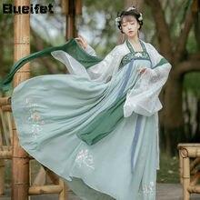 Hanfu chino tradicional para mujer, traje de princesa de la antigua Dynasty Han, trajes de escenario, vestido de hada tradicional, traje Tang, disfraz antiguo