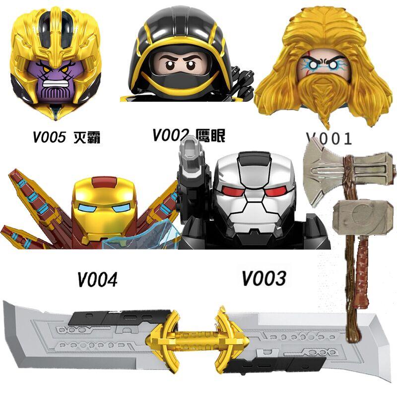 New Building Blocks Heroes WIth Double edged MK War Machine Figures Bricks For Children Toys Gift V001 V002 V003 V004 V005