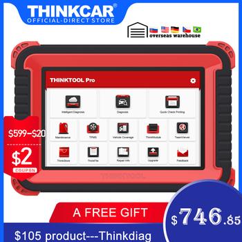 Thinkcar Thinktool Pro OBD2 profesjonalny pełny układ narzędzie diagnostyczne kod skanera czytnik samochodowy Auto skaner kodowanie ECU aktywny Test tanie i dobre opinie CN (pochodzenie) 2020 version SOFTWARE Wifi 5 7kg 8-Inch TFT(IPS) Android 10 OS 32G 2G 8MP Rear 6000mAh 7 6V BT5 0 WIFI(WLAN80211b g n)