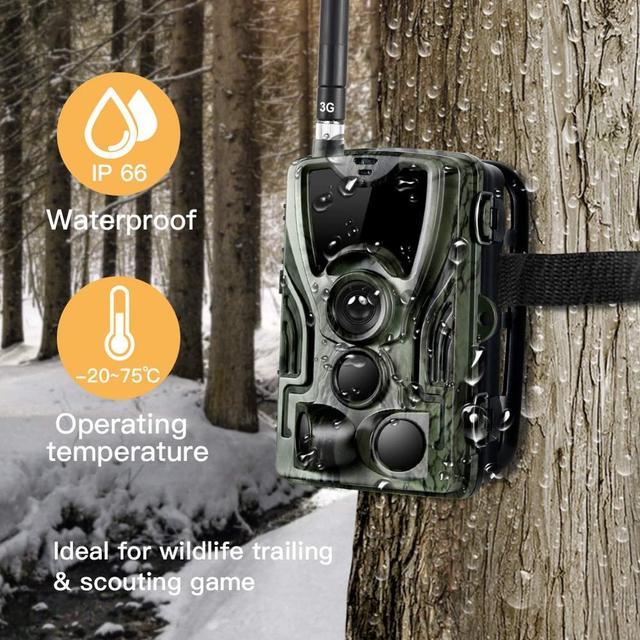 Cellular Mobile Hunting Camera 2G MMS SMS GSM 20MP 1080P Infrared Wireless Night Vision Wildlife Hunting Trail Camera HC801M 3