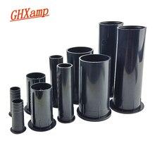 GHXAMP 2 นิ้ว 4 นิ้ว 6.5 นิ้วลำโพง Inverted หลอดพอร์ตเสริมเบสซับวูฟเฟอร์ ABS ลำโพงท่องเที่ยวหลอด 2 ชิ้น