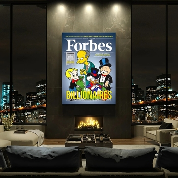 HD Forbes Picture Wall Artwork Modular Nordic Graffiti Poster for Living Room & Home Decor  1