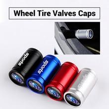 Badge Stem-Cover Tire-Valve-Caps Legacy SUBARU Wheel Alloy Brz-Accessories Metal Car