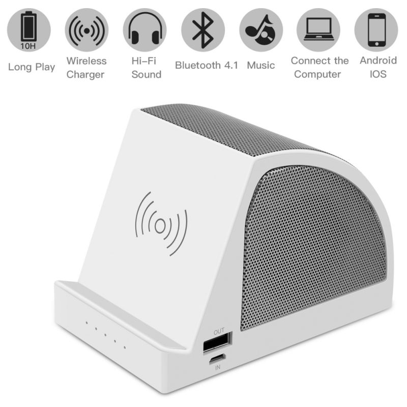 3 In 1 Speaker For Bluetooth Table Stand Wireless Charger Multifunctional Power Bank Charging Phone Holder Bracket New Buy At The Price Of 19 07 In Aliexpress Com Imall Com