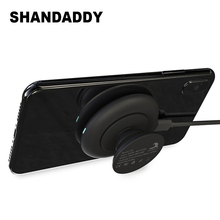 Portable 10W Qi Standard Mobile Phone Tablet Round Suction Cup Wireless
