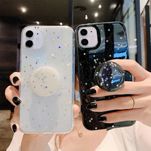 Black Grip Sequin Phone Cases For iphone