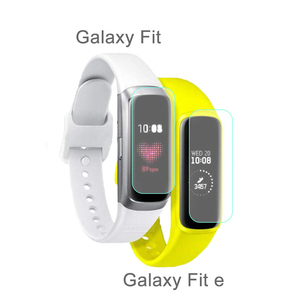 Image 4 - 5 Pcs רך Ultra דק סרט משמר עבור Samsung Galaxy Fit & Fit E ברור מסך מגן עבור Galaxy Fit E נגד שריטות TPU סרט
