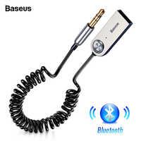 Baseus Adattatore Bluetooth USB Dongle Cavo Per Auto 3.5 millimetri AUX Bluetooth V5.0 4.2 4.0 Altoparlante Ricevitore Bluetooth Audio Trasmettitore