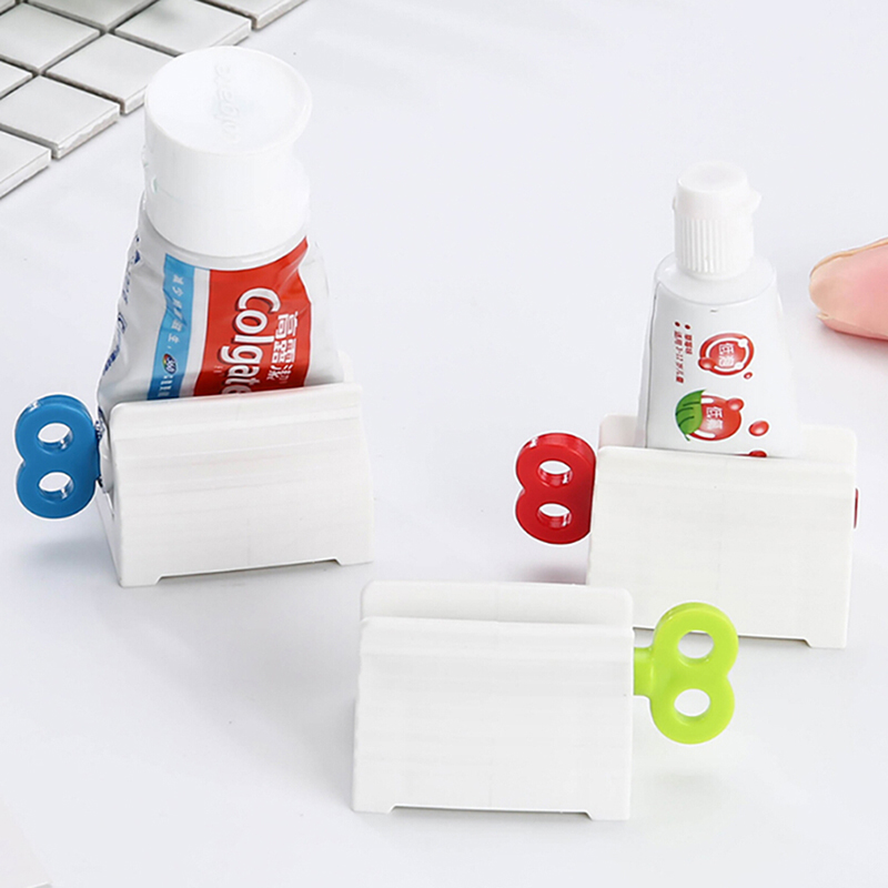 3 Colors Plastic Convinient Creative Toothpaste Squeezer Stand Holder Frugal Condensed Rolling Tube Bathroom Accessories