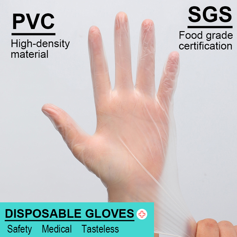 Anti Infection PVC Daily Protective Food Grade Gloves Disposable Safety Gloves Dishwashing/Medical/Kitchen/Work Universal Gloves