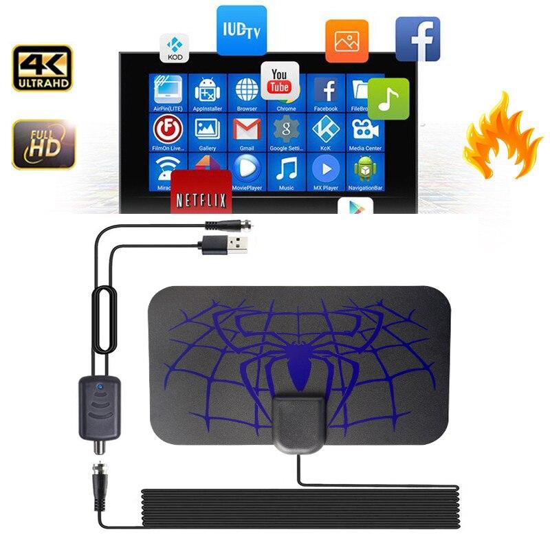 Antena digital para tv antena interna 1500 milhas hdtv antena prato receptor freeview 1080p DVB-T2 receptor de sinal de antena parabólica
