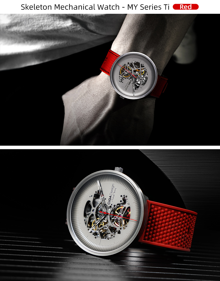 H67351aad586749ce94a8022be0603a446 CIGA DSIGN MY Series Titanium Dial Watch Automatic Mechanical