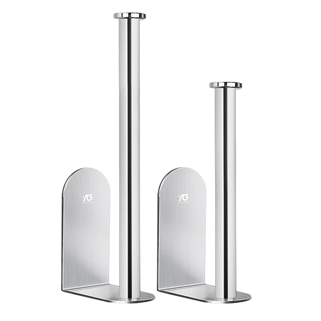 Self Adhesive Wall Mounted Stainless Steel Toilet Paper Roll Holder Racks Holder Kitchen Roll Tissue Stand Organizer