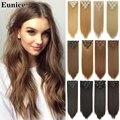 Синтетические волосы 22 дюйма длинные прямые волосы для наращивания 7 шт./компл. 16 зажимов блонд коричневый синтетические волосы для наращив...