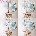 1 набор серебряных синий номер фольга, латекс воздушные шары День рождения украшения для детей для маленьких мальчиков 1st 1 2 3 4 5 6 7 8 9 лет на де...