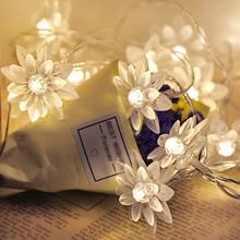 80 светодиодный гирлянда светодиодная водонепроницаемая лампа цветок лотоса Огни праздничного освещения сказочная Гирлянда для рождественской елки украшения для свадебной вечеринки