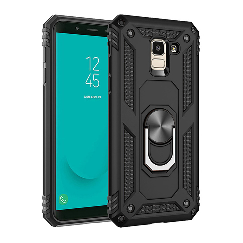 For Samsung Galaxy S8 S9 S10 Note 8 9 10 Plus S20 Ultra 5G Magnet Car Holder Ring Case For J4 J6 J8 A6 A7 A8 A9 2018 Armor Cover