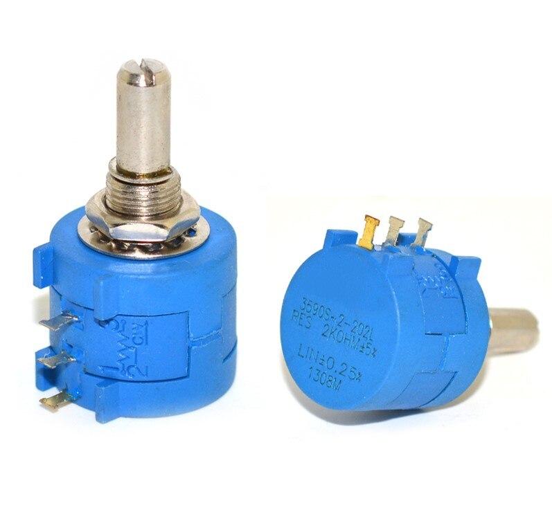 Multiturn Potenciômetro 500 K 2 1 1PCS 3590S K 50 20 10 5K K K K 100K ohm Potenciômetro Resistor Ajustável 3590 102 202 502 103|Potenciômetros|   -