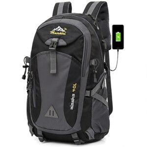 Image 1 - 40L étanche USB charge escalade unisexe mâle voyage hommes sac à dos hommes Sports de plein air Camping randonnée sac à dos sac décole Pack