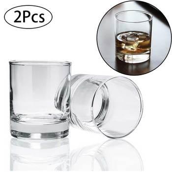 2 szt Szklanki do whisky bezołowiowe do wódki i whisky przezroczyste piwo koktajl szkło klasyczne Home Bar Club Party Drinkware Cup 285ml tanie i dobre opinie Staroświecki szklane ROUND HKIT1162 Ce ue Ekologiczne Clear 8 2*8 2cm Wine Glass Glasss Cup whiskey glass vasos de vidrio