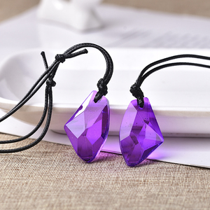 Image 1 - Toptan moda düzensizlik kristal kolye ekleyebilirsiniz Charm kadınlar takı aşk bellek düğün kolye sevgililer günü hediyesi