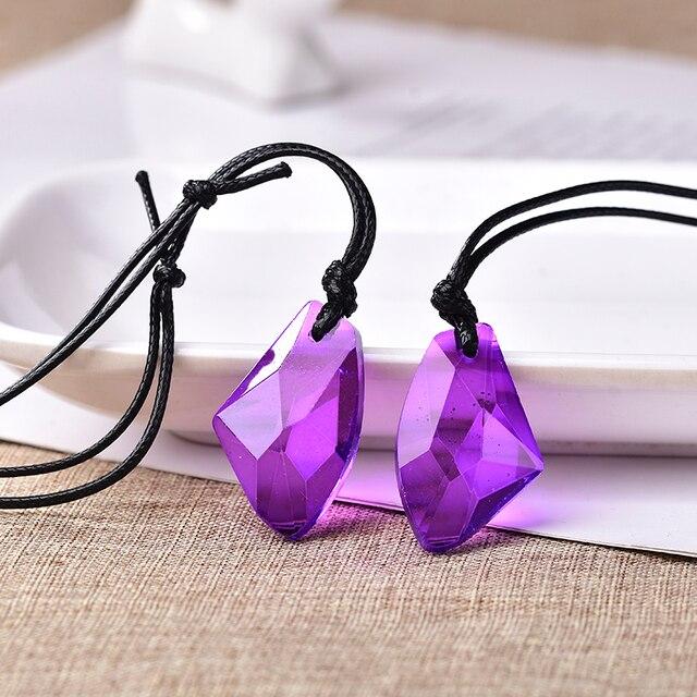 Toptan moda düzensizlik kristal kolye ekleyebilirsiniz Charm kadınlar takı aşk bellek düğün kolye sevgililer günü hediyesi