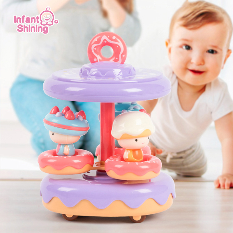 Toddlers Learn To Climb Toys Baby Crawling Toy Donuts Car Baby Crawling Exercise < 3 Years Old Climb Toys For Learing Climb