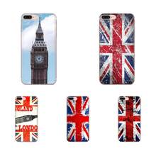 For LG G7 ThinQ G5 G6 K50 Q60 K40 K8 Q7 2018 2017 V40 V30 V20 V10 Soft Silicone TPU Transparent Shell Union Jack British Flag(China)