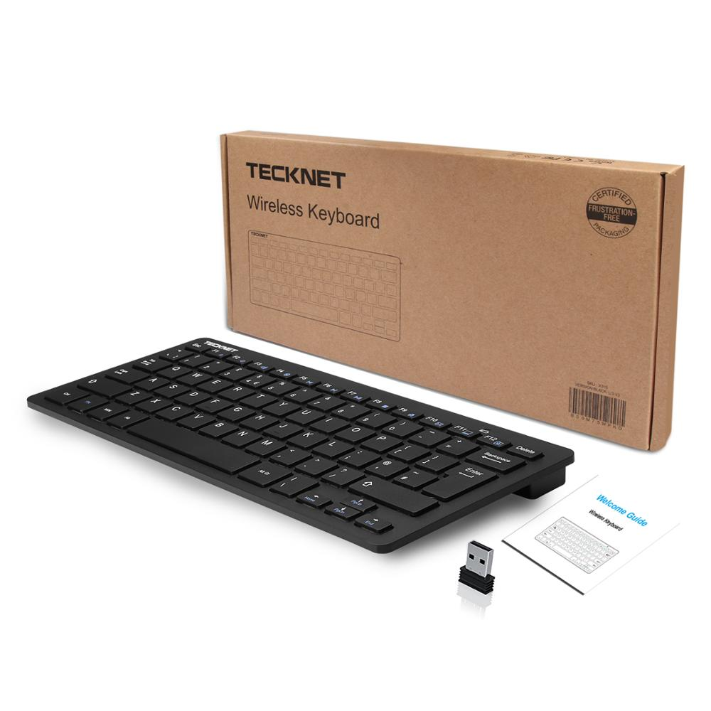 Image 5 - TeckNet 2.4GHz Wireless UK Keyboard Slim USB Laptop Keyboards Hot Keys Design for Android Smart TV Windows 10 8 7 XP Vista-in Keyboards from Computer & Office
