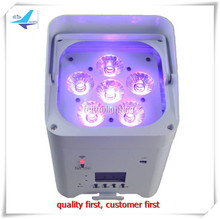 High Quality Rechargeable Wifi RGBWA UV Battery Power Wireless DMX 6x12w  LED Par Light