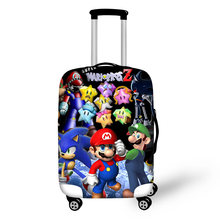 Чехол для багажа haoyun путешествий с принтом супер Марио чехол