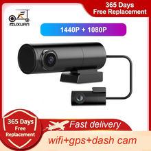 Nuevo Mini escondido 2K 1440P cámara de salpicadero cámara frontal y trasera DVR Detector con GPS WiFi FHD 1080P grabador de vídeo 24H Monitor de aparcamiento
