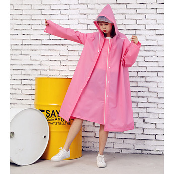 Fashion Outdoor Rain Coat Women Covered Transparent EVA Girls bicycle Raincoat Travel Waterproof Rainwear Adult Poncho With Hood